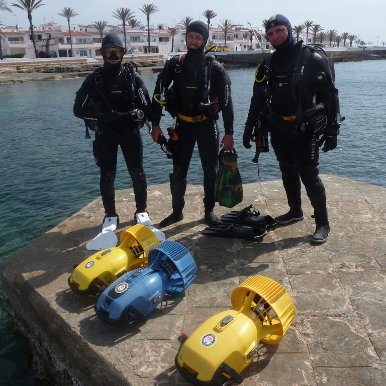 PADI DPV Course, Menorca