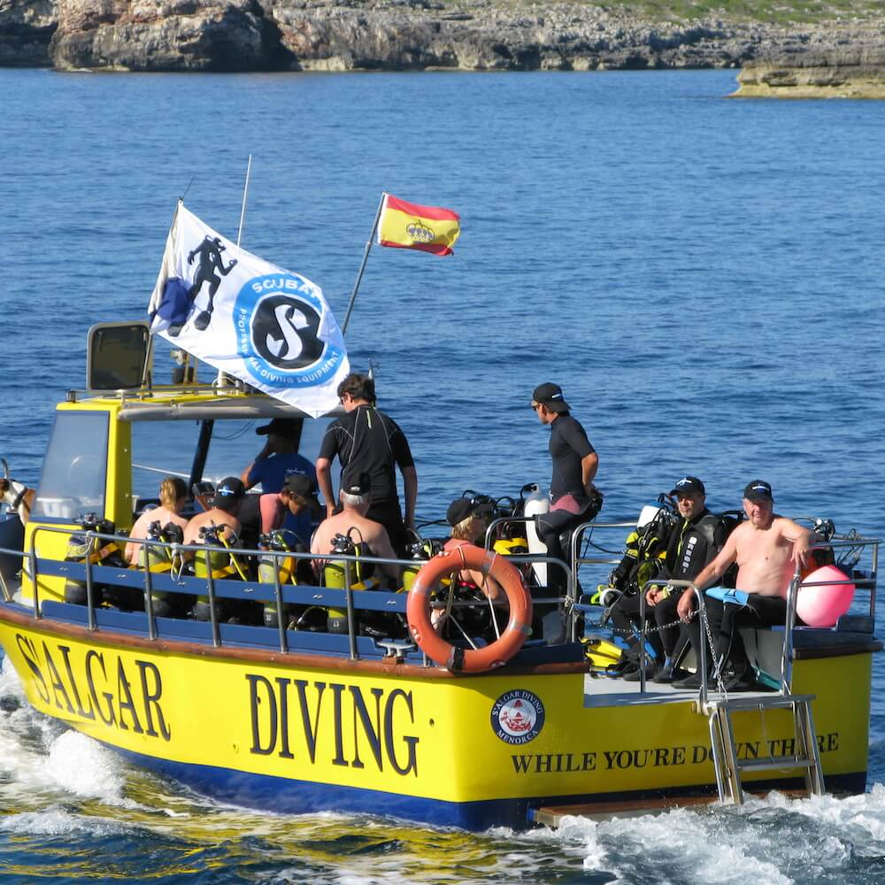 S'Algar Diving Menorca | Dive Boat