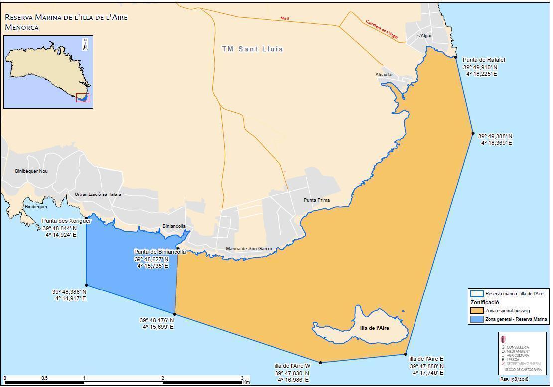 Marine Reserve Menorca, Isla del Aire @ Salgar Diving